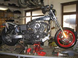 Motorradumbau
